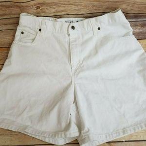 Vintage Zena White High Waisted Jean Shorts